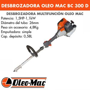 Desbrozadora multifunción Oleo Mac BC 300 D