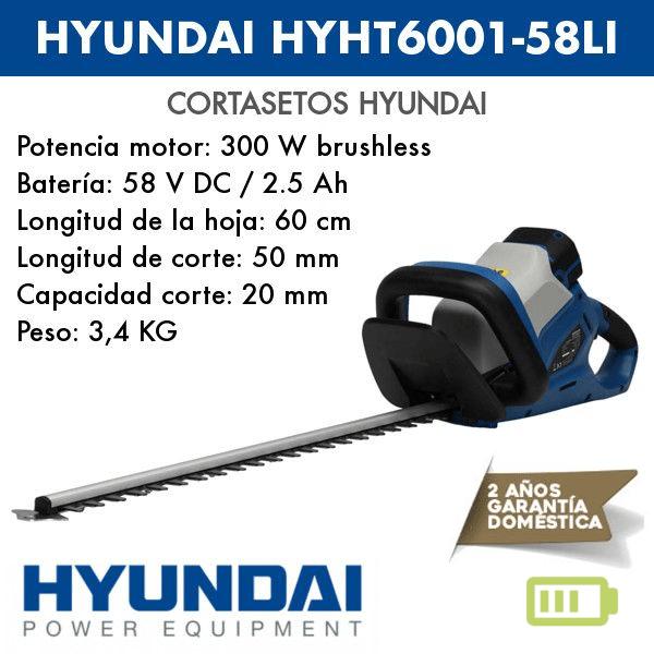 Cortasetos a batería Hyundai HYHT6001-58LI