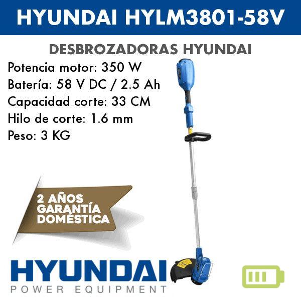 Desbrozadora de batería Hyundai HYLM3801-58V