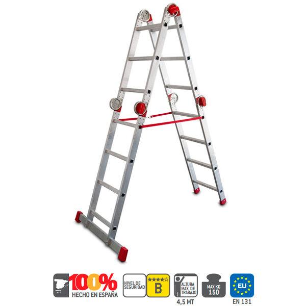Escalera industrial de aluminio Faraone EA 614