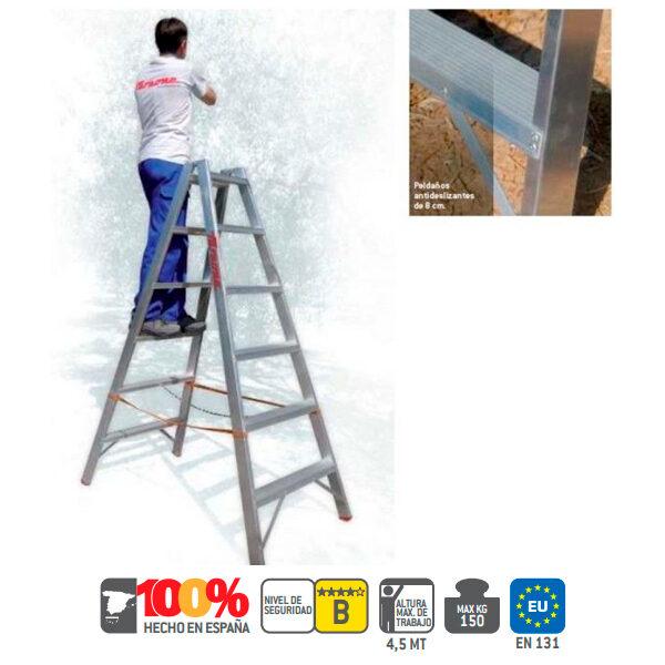 Escalera industrial de aluminio Faraone T800