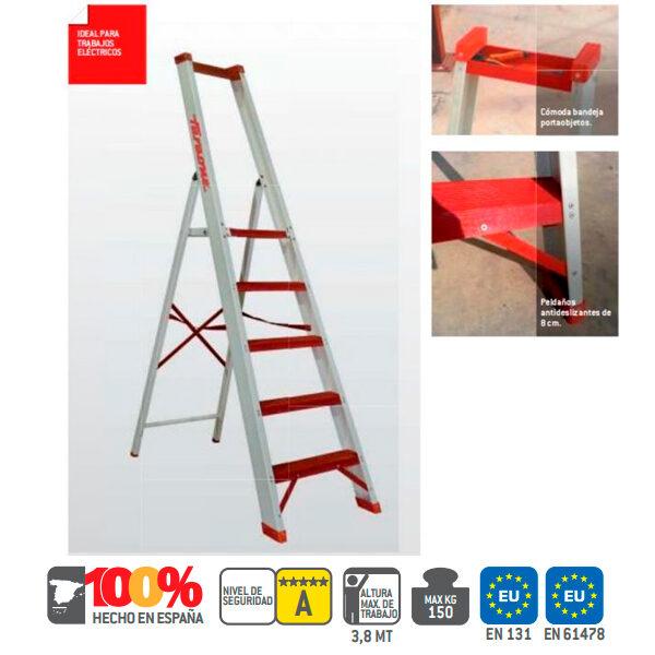 Escalera industrial de tijera fibra vidrio Faraone PAF