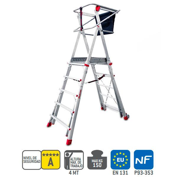 Escaleras de aluminio Faraone PLS (UNE EN 131-7:2013)