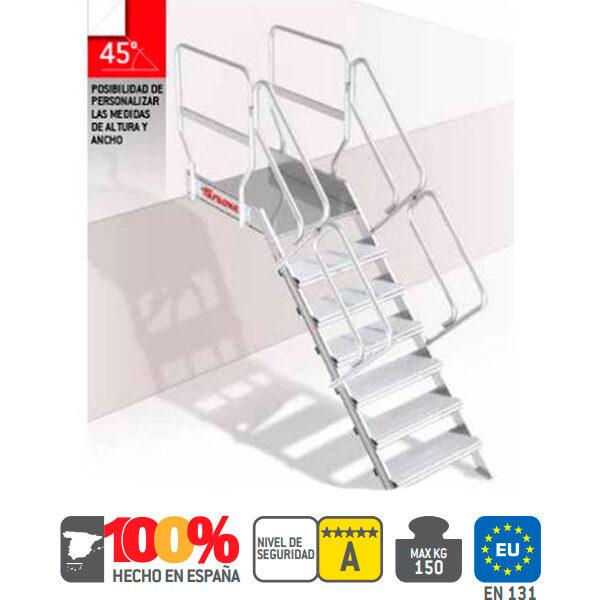 Escaleras de aluminio Faraone SG45