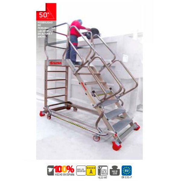 Escaleras de aluminio Faraone SY50