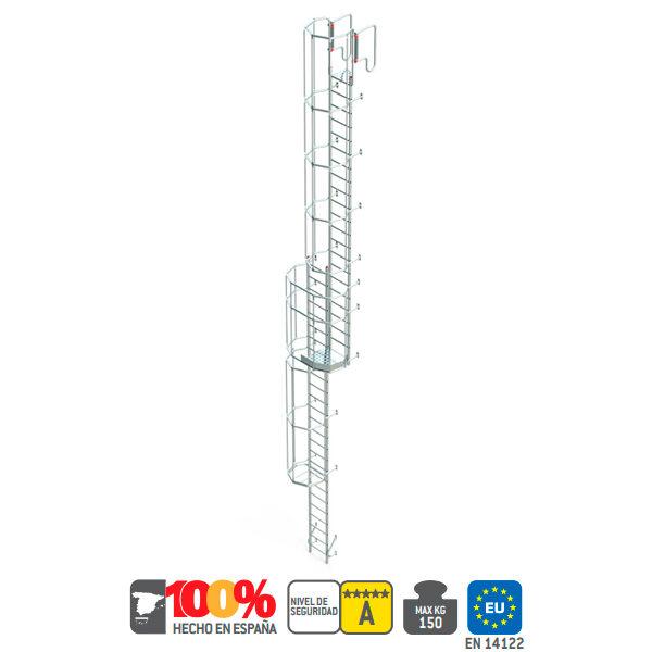Escalier en aluminium en FARAONE SVS 1 - 12.72 mètres à 16.08