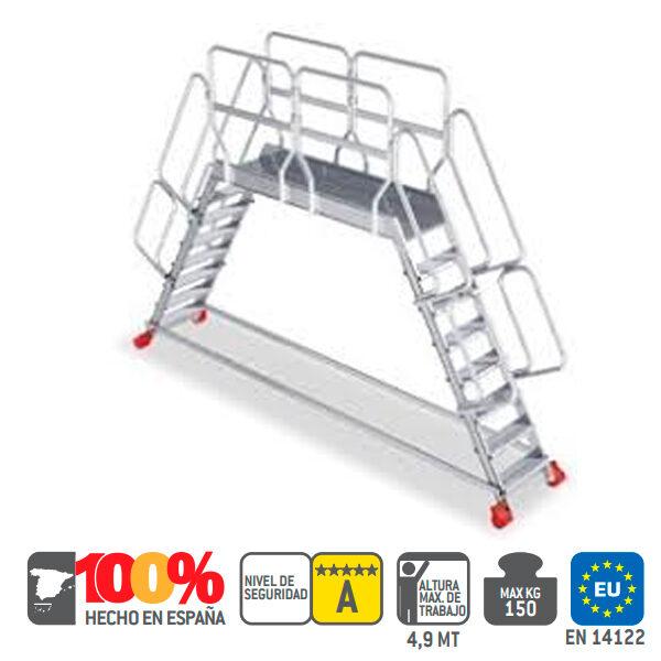 Escaleras de aluminio en puente Faraone SP 50
