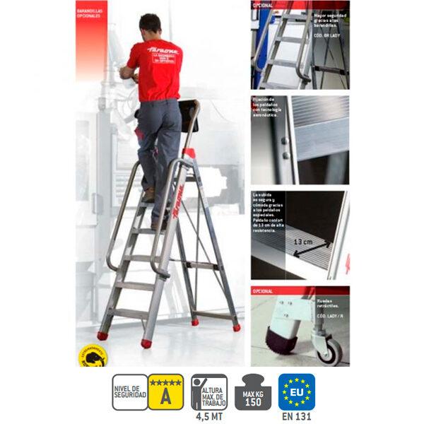 Escaleras industrial de aluminio Faraone EN700