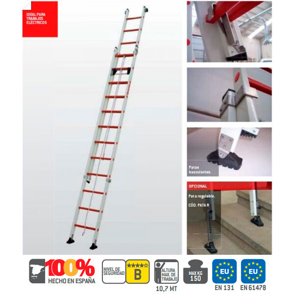 Escaleras industrial de fibra vidrio Faraone 2TFV-EC
