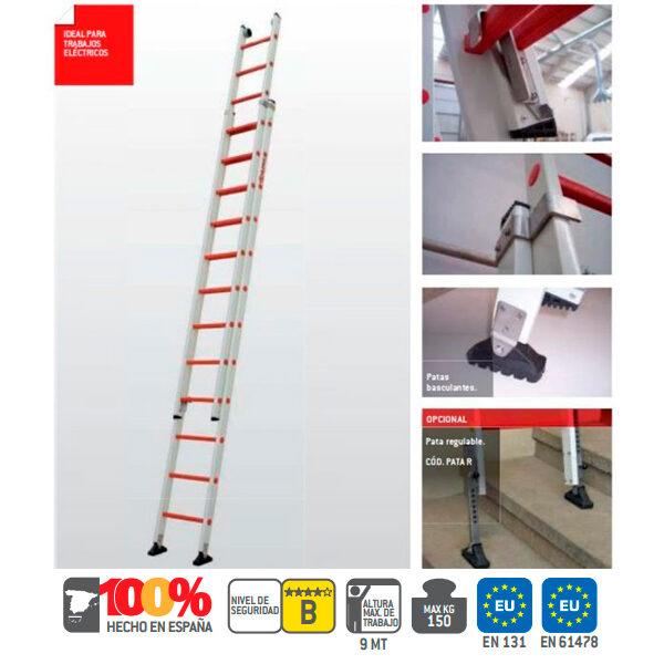 Escaleras industrial de fibra vidrio Faraone 2TFVE