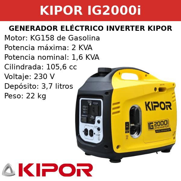 Generador Eléctrico Inverter IG2000i de Gasolina