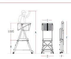 Escaleras de aluminio para mercadona