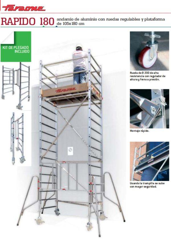 Aluminum scaffolding Faraone RAPIDO 180