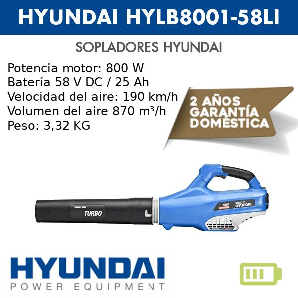 Soplador a batería Hyundai HYLB8001-58LI