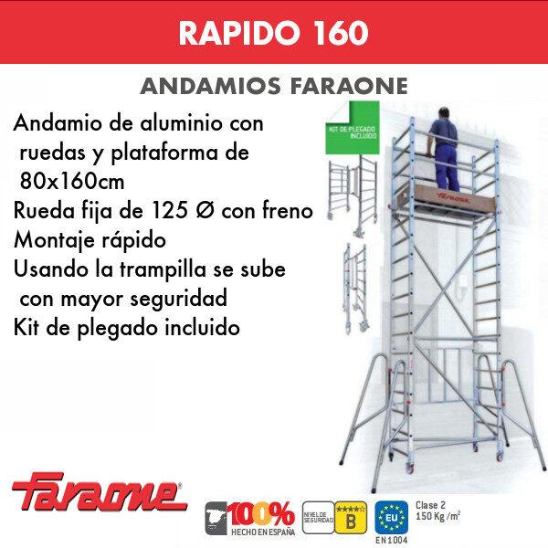 Andamios de aluminio Faraone RAPIDO 160