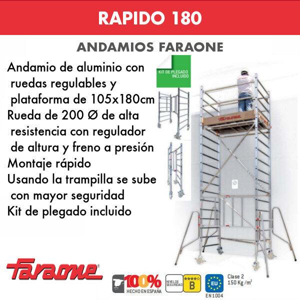 Andamios de aluminio Faraone RAPIDO 180