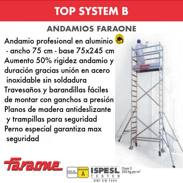 Andamios de aluminio Faraone TOP SYSTEM B