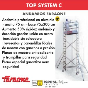 Andamios de aluminio Faraone TOP SYSTEM C