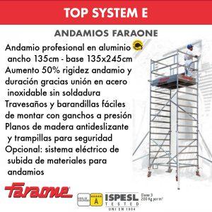 Andamios de aluminio Faraone TOP SYSTEM E