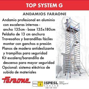 Andamios de aluminio Faraone TOP SYSTEM G