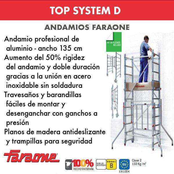 Andamios de aluminio TOP SYSTEM D