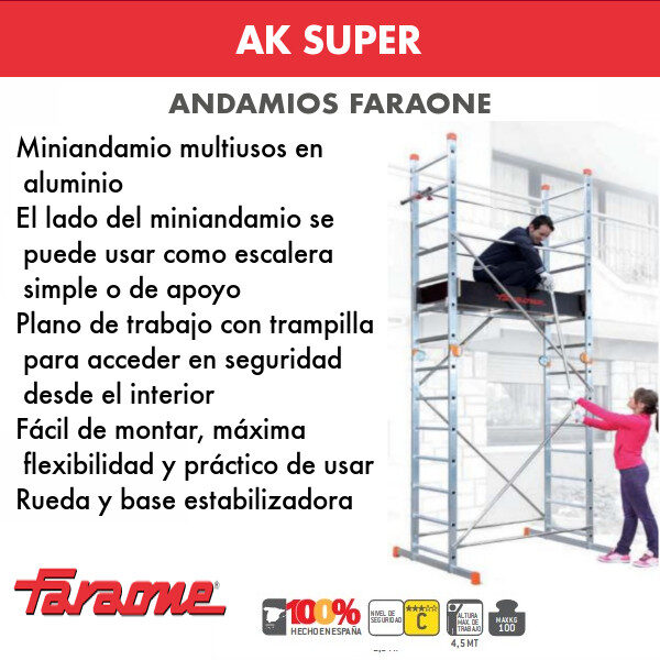 Andamios de aluminio Faraone AK SUPER