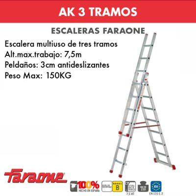 Escaleras de aluminio Faraone AK3
