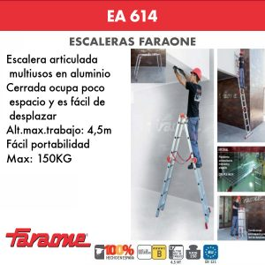 Escaleras de aluminio Faraone EA614