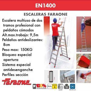 Escaleras de aluminio Faraone EN1400