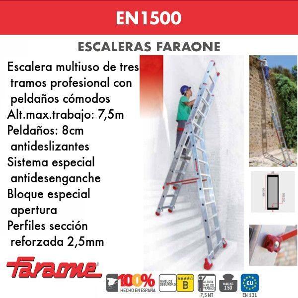 Escaleras de aluminio Faraone EN1500