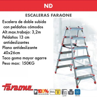 Escaleras de aluminio Faraone ND
