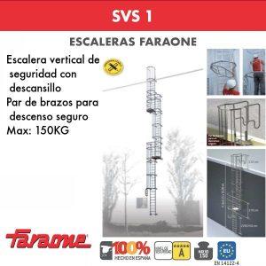Escaleras de aluminio FARAONE SVS 1 de 6.15 - 9.36 metros
