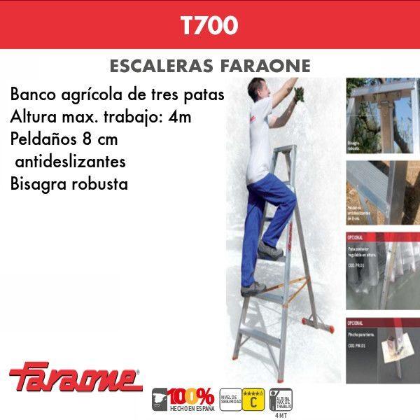 Escaleras de aluminio Faraone T700