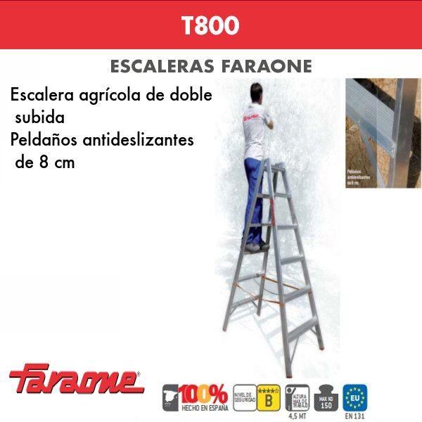 Escaleras de aluminio Faraone T800