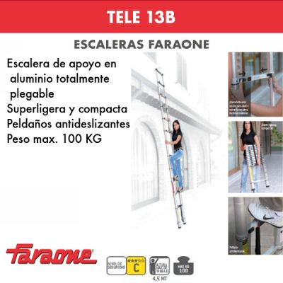 Escaleras de aluminio Faraone tele 13B