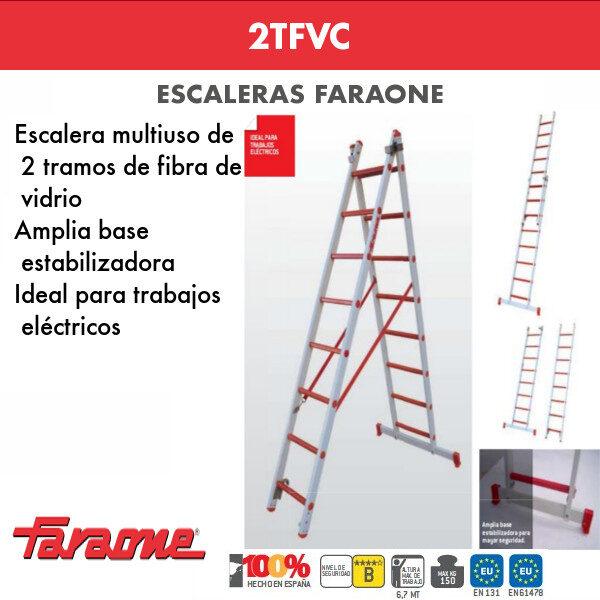 Escaleras de fibra vidrio Faraone 2TFVC