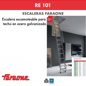 Escaleras escamoteables Faraone RE 101