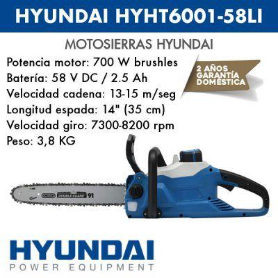 Motosierra Hyundai HYCS3501-58LI