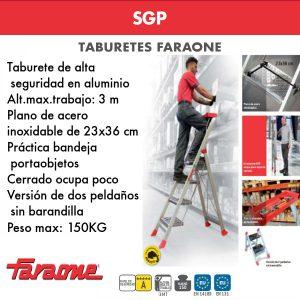 Taburete de alta seguridad de aluminio Faraone SGP
