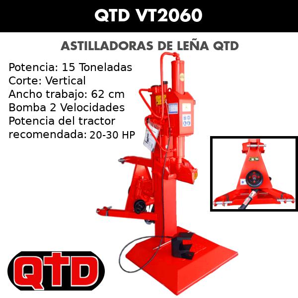Astilladora de leña QTD VT2060