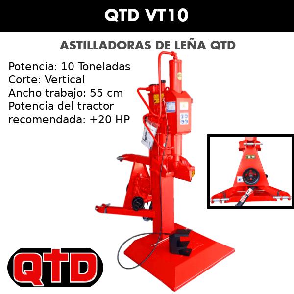 Astilladora de leña QTD VT10