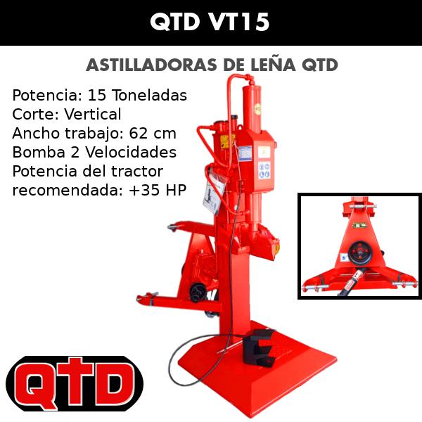 Astilladora de leña QTD VT15