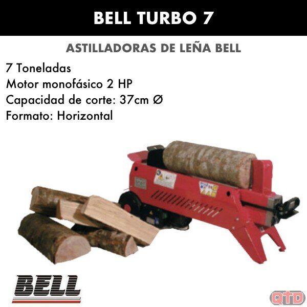 Astilladora leña BELL Turbo 7