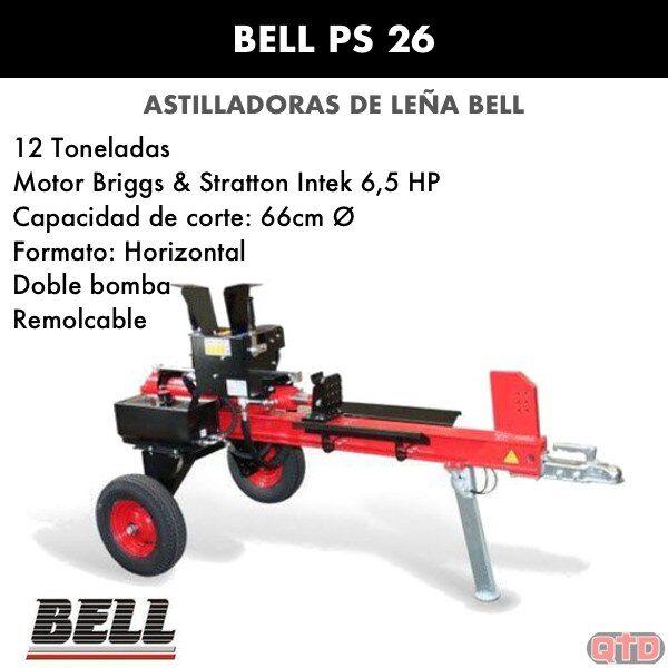 Astilladora leña Bell PS 26