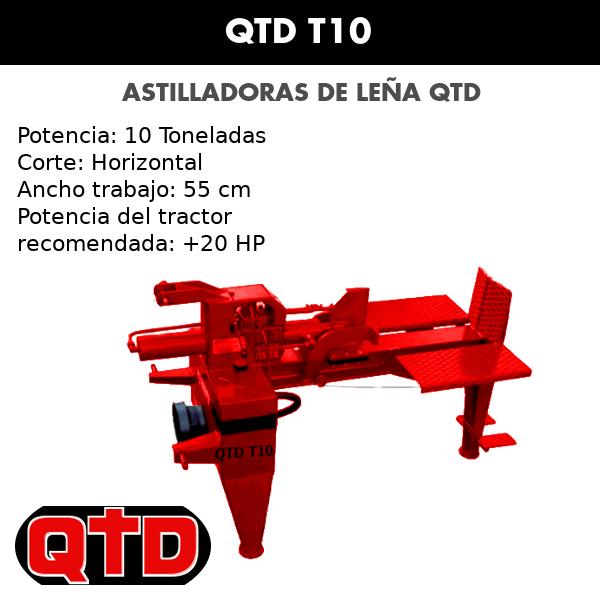 Astilladoras de leña QTD T10