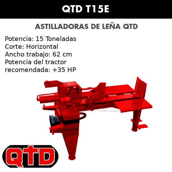 Astilladoras de leña QTD T15E