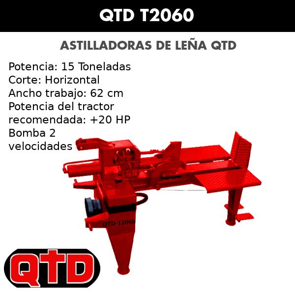 Astilladoras de leña QTD T2060