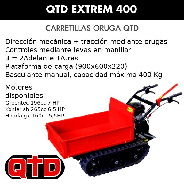 Carretilla Oruga Transportadora QTD Extrem 400