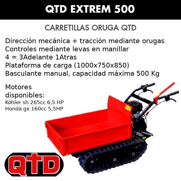 Carretilla Oruga Transportadora QTD Extrem 500