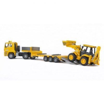 Camion Man TGA con Mixta JCB 4CX de juguete - escala 1:16